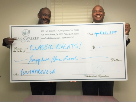 Ralph Watson and Frank Walker Pose with the Donation Check