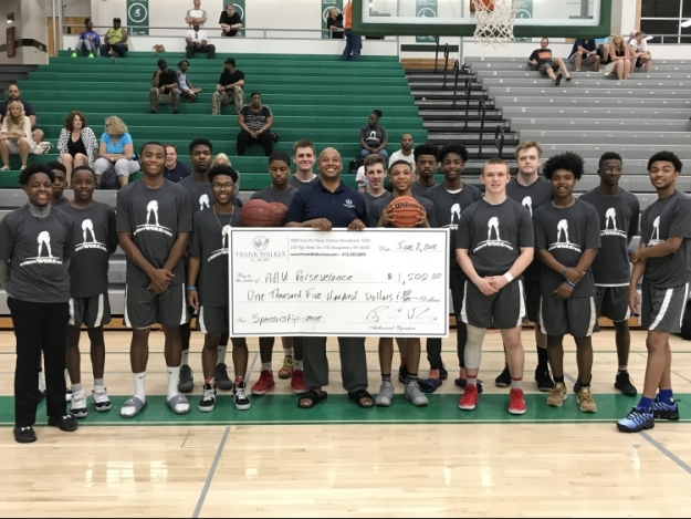 Frank Walker Law Sponsors Local AAU Basketball team